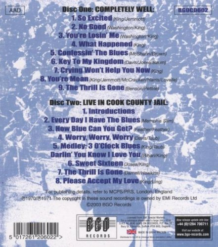 B.B. King -  Completely Well / Live In Cook County Jail by BGO