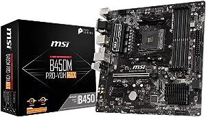 MSI AMD B450 PRO-VDH Max AM4 Micro ATX DDR4-SDRAM Motherboard