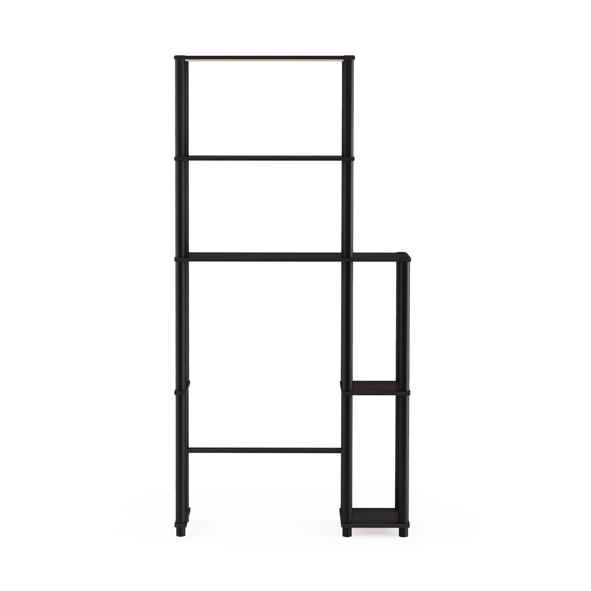 Furinno  Turn-N-Tube with 5 Shelves Toilet Space Saver, Espresso/Black by Furinno