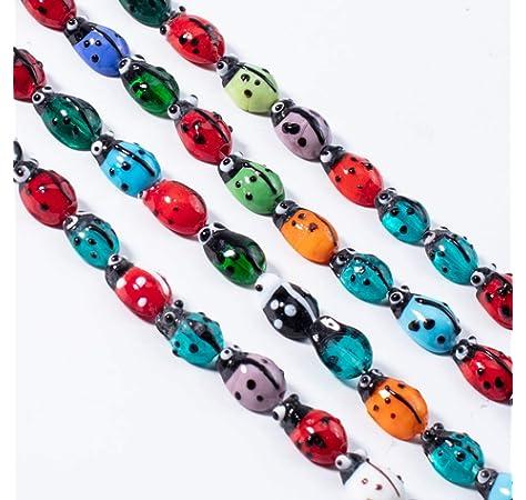 200pcs Mixed Vegetable Fruit Lampwork Glass Loose Beads for DIY Craft Making