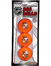 Franklin Sports NHL AGS PRO High Density Street Hockey Ball, Arancione, pacchi