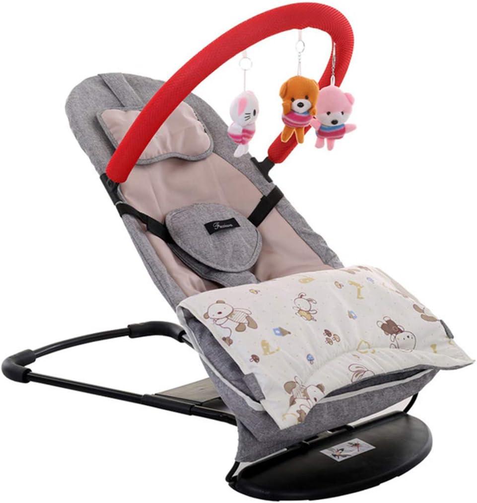 WXX Columpio para bebés, Cuna para niños Hamaca portátil Silla Mecedora Silla para bebés Columpio con Marco Comodidad para bebés Cama acostada Sleepy,Gray