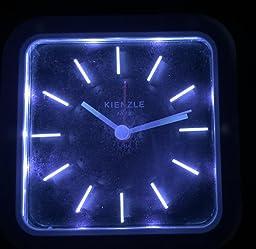 kienzle unisex wecker analog quartz lautlos led beleuchtung weiss schwarze streifen a 00446. Black Bedroom Furniture Sets. Home Design Ideas