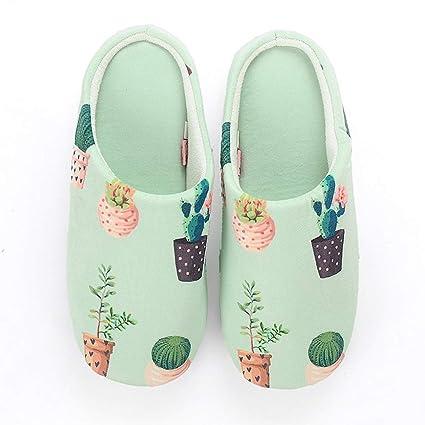 TOOSD flip flop Zapatos de Mujer otoño Invierno casa Zapatillas Flamingo Antideslizante Suave Memoria Espuma casa