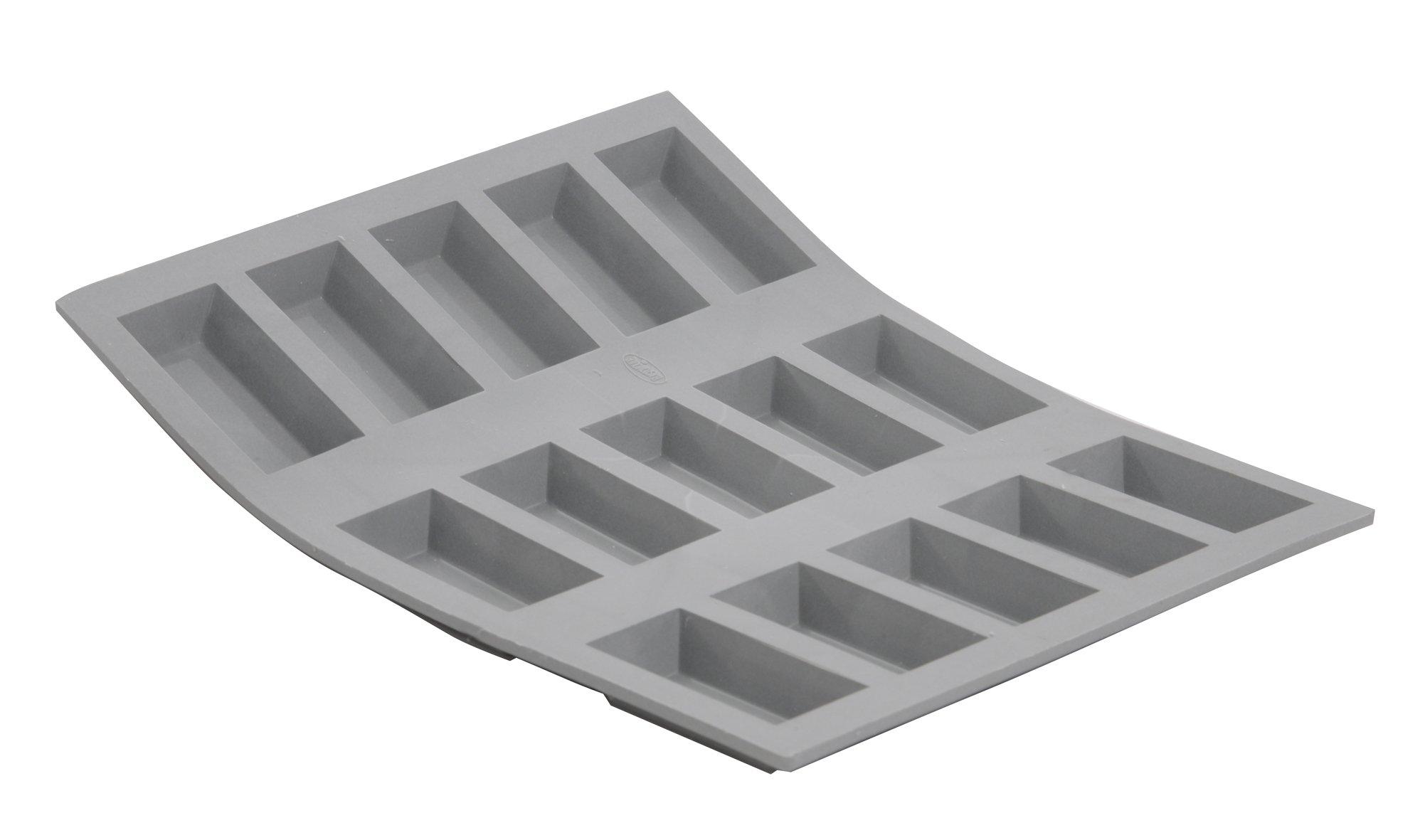 ELASTOMOULE Silicone Mold, 15 Mini-Financiers, 8.25'' x 7'' by DE BUYER