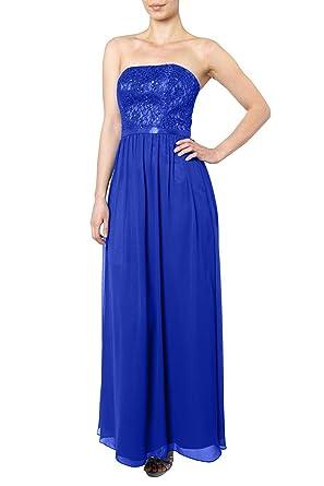 Charm Bridal 2018 New Strapless Chiffon Sequined Bridesmaid Formal Prom Dress -26W-Royal Blue