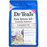 Dr Teals Coconut Oil Pure Espom Salt Soaking Solution 3 lbs.(Pack of 2)