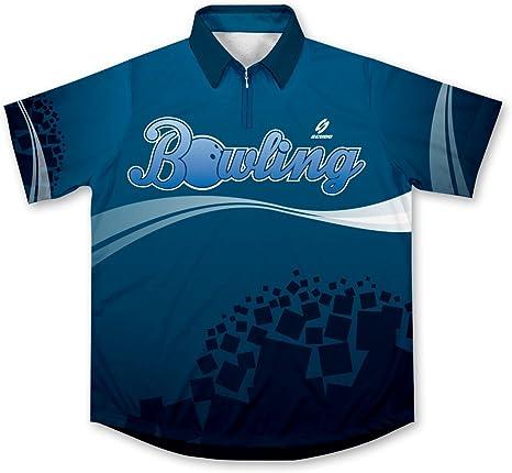 ScudoPro Blue Bowling Jersey Camisa de Bolos -: Amazon.es: Deportes y aire libre