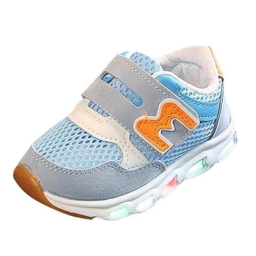 Calzado Deportivo para bebés, BBestseller Niño emisores de Luces LED Zapatos Casuales Zapatos de Piel Brillante niños y niñas de Calzado Deportivo de Moda: ...