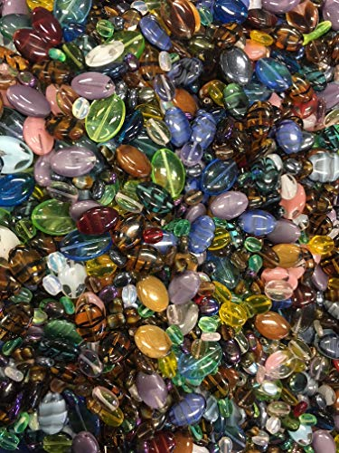 Oval Czech Glass Beads Mixed Colores &Sizes (Mixed Glass Beads)