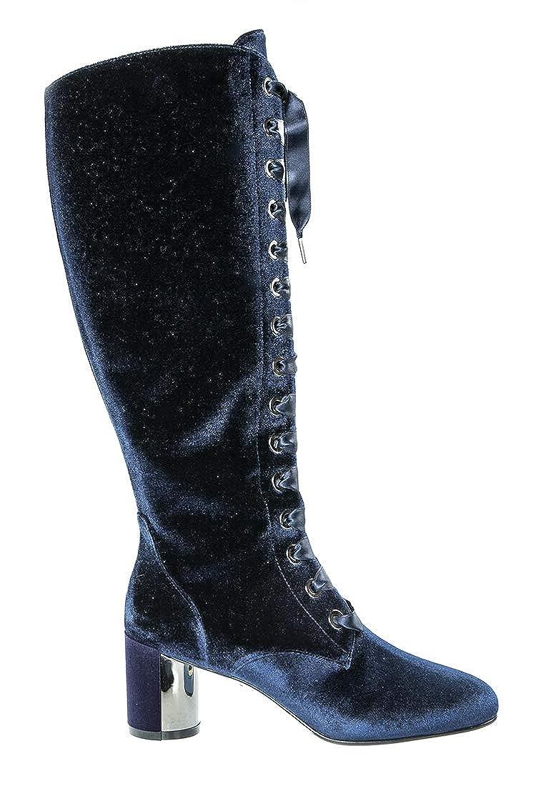 Loriblå 6622 6622 6622 blå Velour  läder Knee High Italian Designer Mode kvinnor stövlar  stort urval och snabb leverans