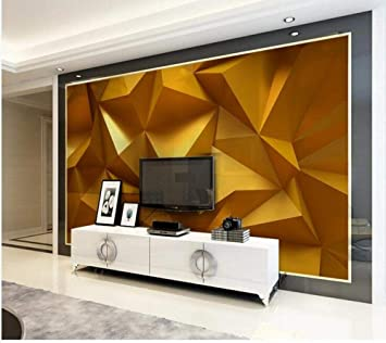 Amazon Com Golden 3d Stereo Geometric Tv Background Wall 250cmx175cm Home Improvement