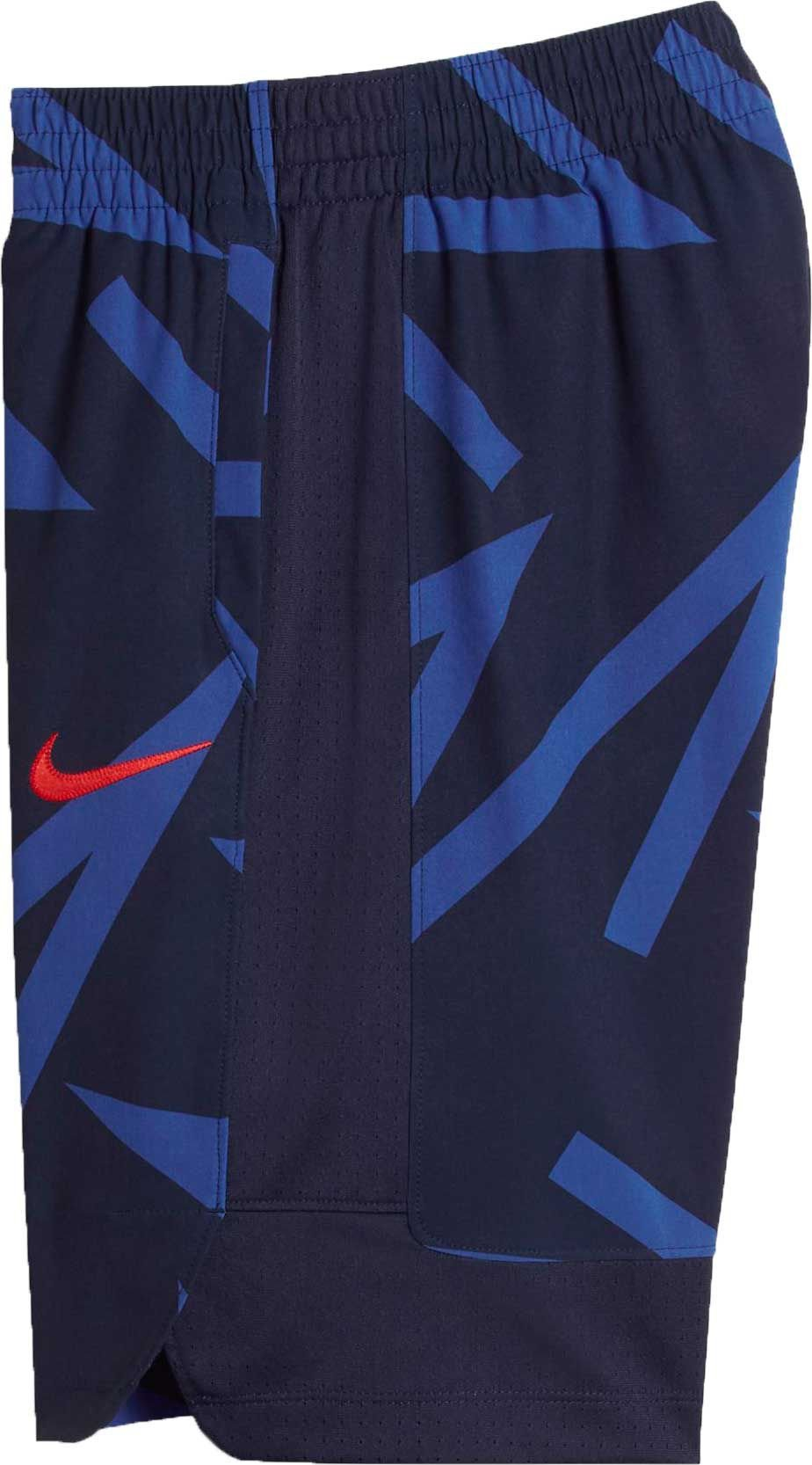 NIKE Boys' Flex Kyrie Hyper Elite Basketball Shorts (Game Royal (844318-480) / Midnight Navy/Max, Small)