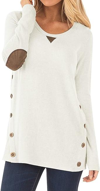Haut femme à manches longues Off épaule chaud Sweat-shirt Pullover Casual Top shirt chemisier