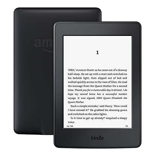 """Kindle Paperwhite E-reader, 6"""" High-Resolution Display (300 ppi) with Built-in Light, Wi-Fi (Black) - Includes Special Offers"""