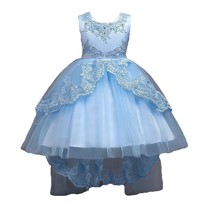 Vestido de Niña Floral Bowknot Vestido Princesa Vestido Bautizo Bebé Niñas Vestidos de Comunion Fiesta Del