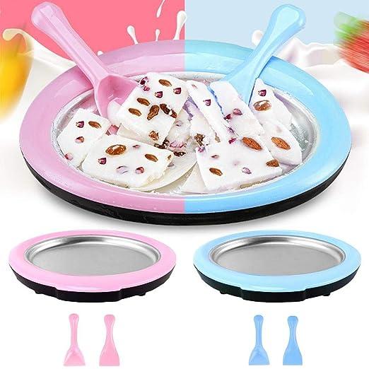 Máquina para hacer helados, Bandeja de hielo frito, Máquina para ...