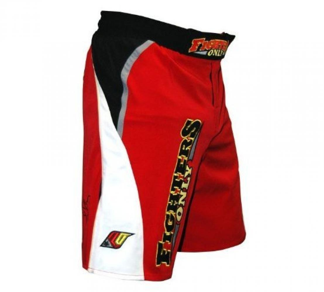 Fighters Only ~ MMA Fight Shorts ~ Red ~ Heavyweight 4 Way Stretch