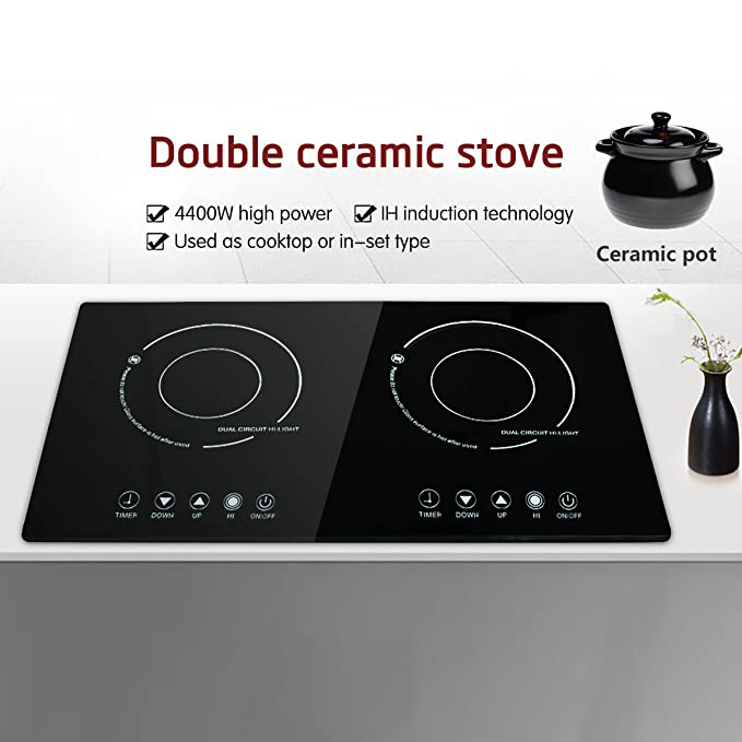 Amazon.com: XGMY DT5 Double 2200W Burner Cooktop ...