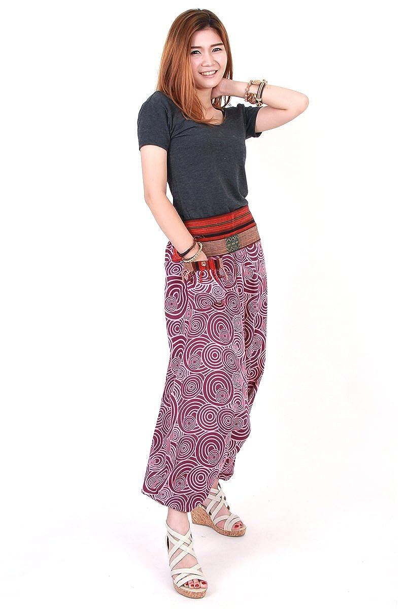 Tribal Hmong Genie Harem Gypsy Hippy Casual Trousers Pants Aladdin hp10