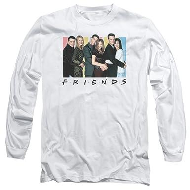 85c0c3def5e Image Unavailable. Image not available for. Color  Friends Cast Logo Mens Long  Sleeve Shirt ...