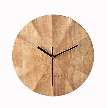 OFOY Einfache Holz Uhren Uhren Wohnzimmer Große Kreis ...