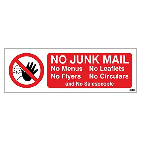 no junk mail letterbox sticker no menus no leaflets no flyers no