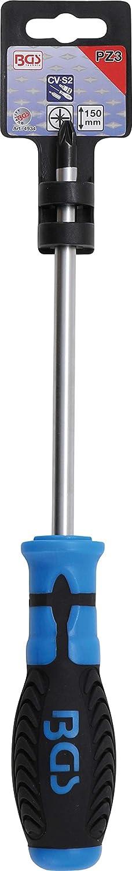 BGS 4933 Klingenl/änge 100 mm Schraubendreher Kreuzschlitz PZ2