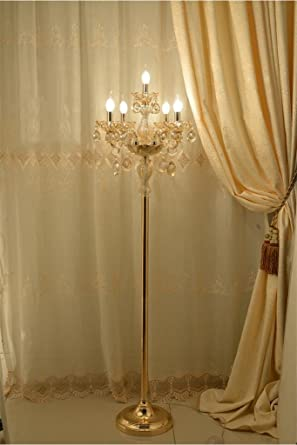 Uncle Sam Li Gold Crystal Floor Lamp Living Room Luxury Creative