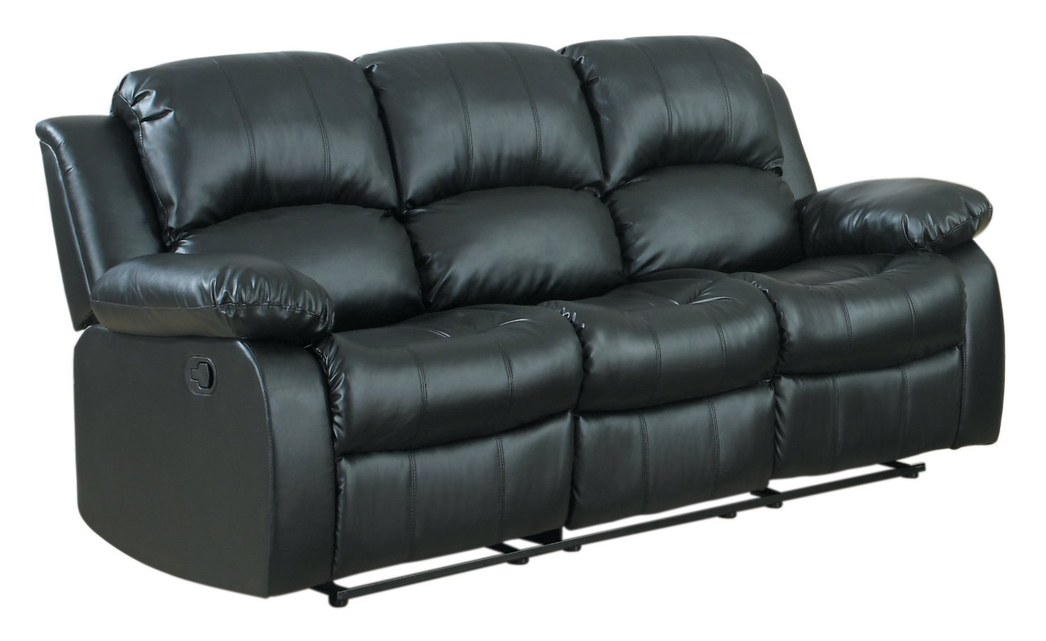 Amazon.com 3 seat Sofa Double Recliner Black / Brown Bonded Leather (Black) Kitchen u0026 Dining  sc 1 st  Amazon.com & Amazon.com: 3 seat Sofa Double Recliner Black / Brown Bonded ... islam-shia.org