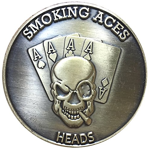Gamblers Creed Lucky Mojo Heads Tails Challenge Coin by Thompson (Poker Lucky Charms)