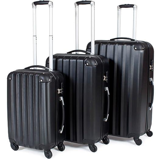 66 opinioni per TecTake Trolley valigia valigie set rigido borsa 3 pz.- disponibile in diversi