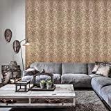 paste the wall modern Embossed Slavyanski wallcovering roll victorian pattern Vinyl Non-Woven Wallpaper grey gray brown coffee hue silver sparkles gold metallic textured stripes 3D damask vintage styl