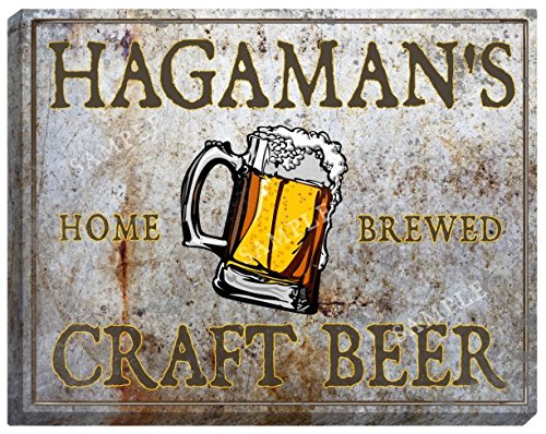 "HAGAMAN'S Craft Beer Stretched Canvas Sign - 24"" x 30"""
