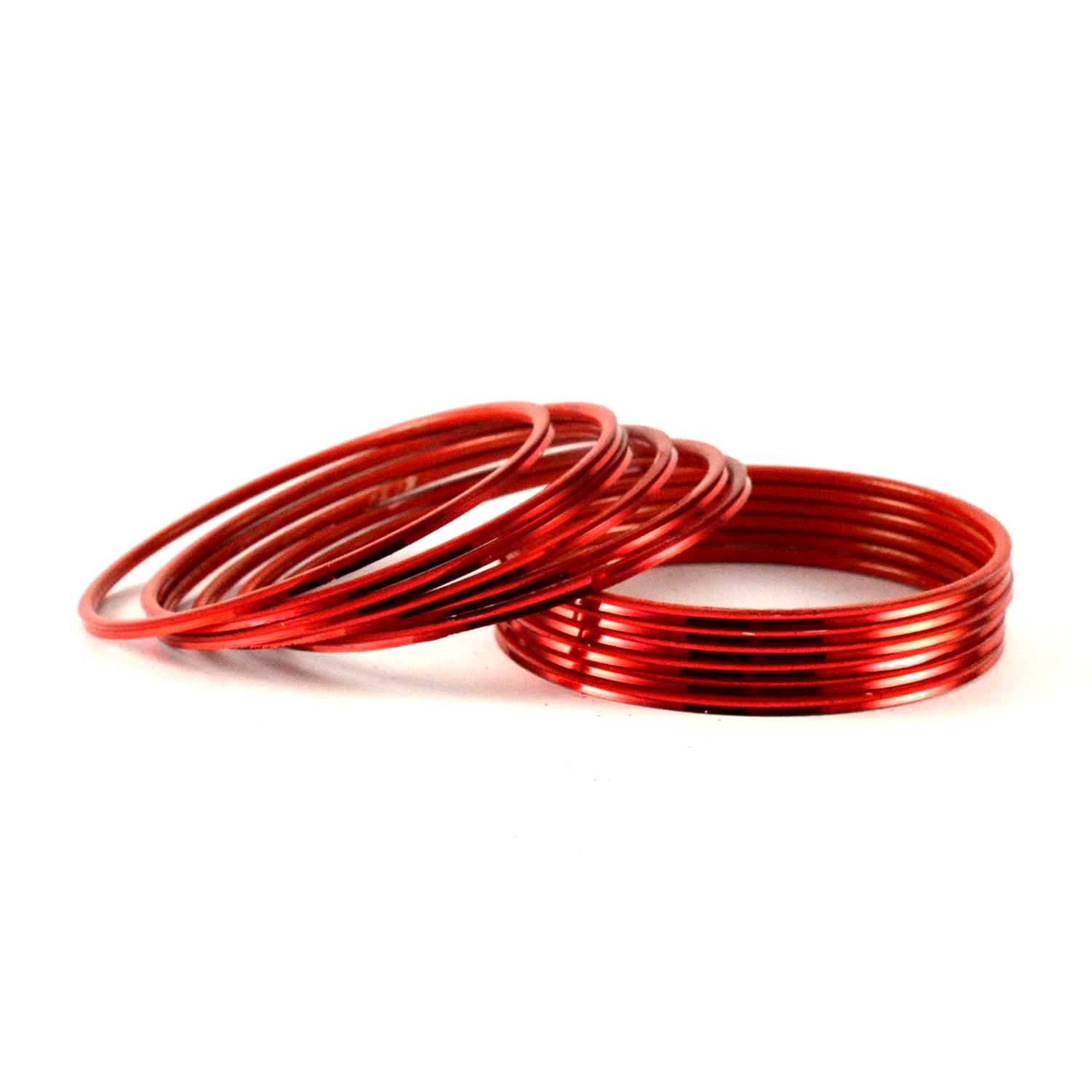 handicrafts red silk products khushi bangles