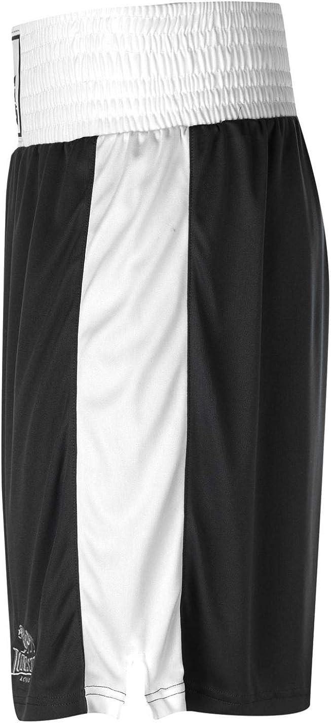 Lonsdale Caja de pantal/ón Corto para Hombre Pantalones de Deporte de los Cierres de Wear Sport de Boxeo de Entrenamiento