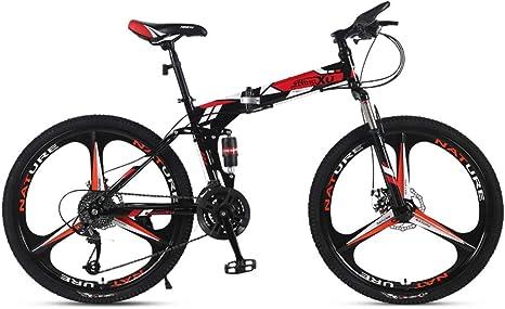 WZB Bicicleta de montaña 21/24/27 Velocidad Marco de Acero 24 ...