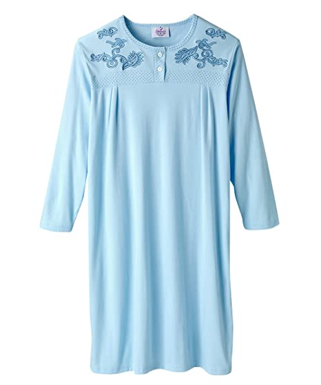 Amazon.com  Silvert s Adaptive Open Back Knit Nursing Home Nightgown - Easy  - Crystal Blue 3XL  Clothing 2c13a4739
