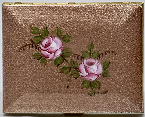 1940's - Hand Painted Genuine Cloisonne Ladies Cigarette Case - By Wiesner of Miami - OOP - Very Rare - Amber Cloisonne