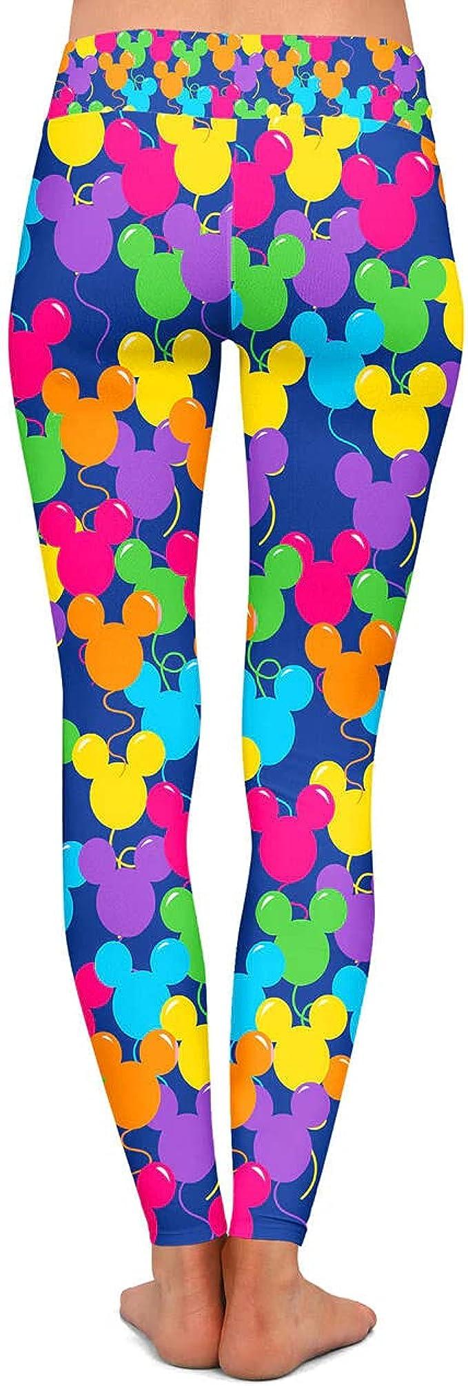 Mickey Mouse leggings toddler disney leggings baby disney ears Disney Inspired Rainbow Mickey Mouse Leggings mouse head leggings