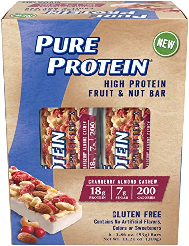 Pure Protein® Fruit & Nut Bar - Cranberry Almond Cashew, 53 gram, 6 count Multipack
