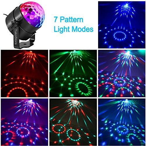 Portable Party Lights,Rotate Colored LED Mini Disco Ball Party Light/Sound Activated/Strobe Light for Dance Night Club/Christmas/Wedding/DJ Lighting for Car,KTV,Bar,yacht party,Club and home(with USB) by TakoStore (Image #1)