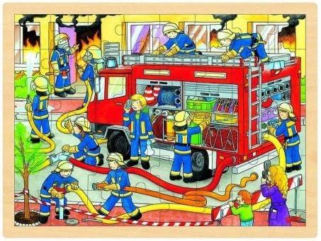 Goki Juego de Mesa Puzzle DE Madera 48 Piezas Modelo CAMIÓN ...