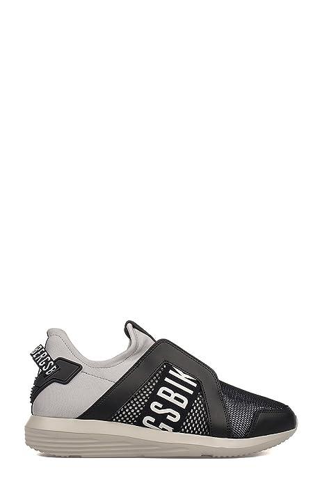 Bikkembergs Hombre Bke108755 Gris/Negro Poliamida Zapatillas: Amazon.es: Zapatos y complementos
