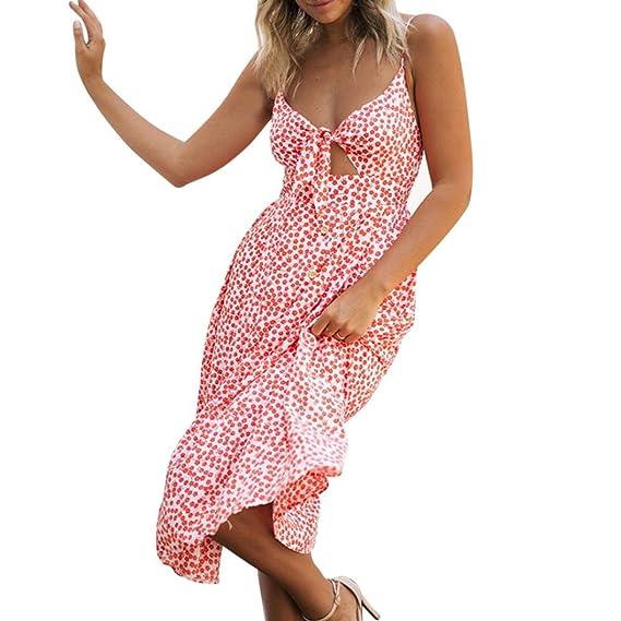 Cinnamou Vestido Boho de las mujeres del verano vestido largo del halter floral Vestidos de la