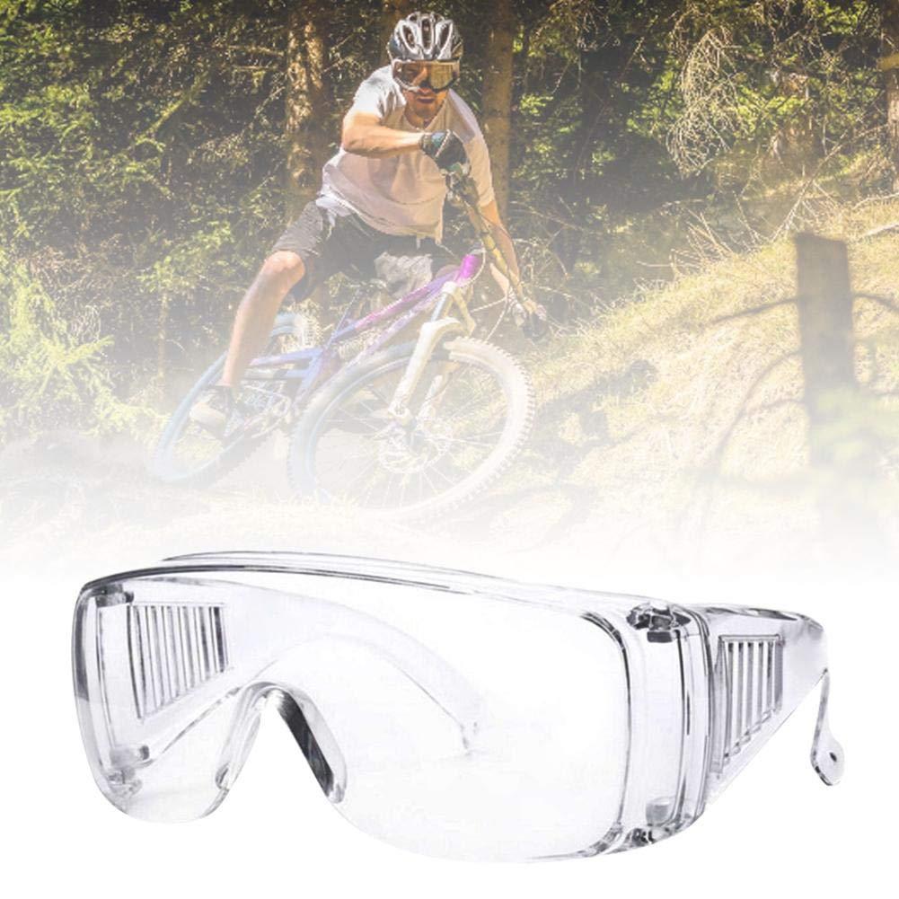 Use anteojos para las personas que usan anteojos Para obras de construcci/ón anteojos 1 par de anteojos de seguridad claro y laboratorios Ligero talleres y ciclismo Gafas de seguridad BBS-2