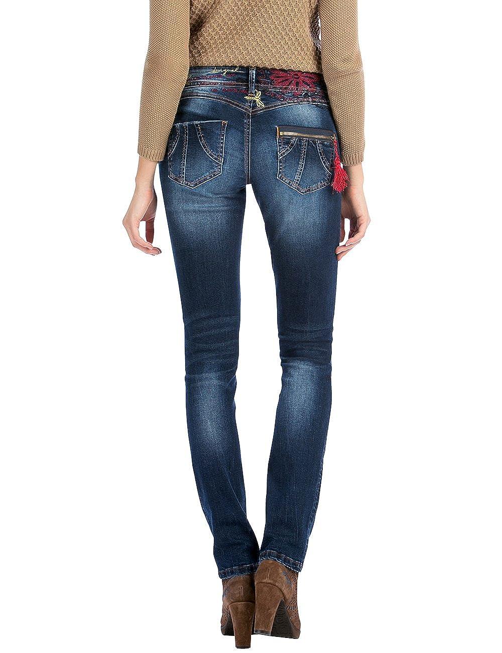 W26 Women's navy Bleu Desigual Jeans Cors refri Denim Blue n8wdY0aw