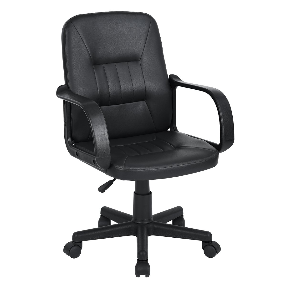 Amazon.com: Ihouse Leather Swivel Adjustable Ergonomic Office Chair with Armrest(Black): Kitchen & Dining