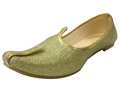 9e9e23050 Image Unavailable. Image not available for. Color: Step n Style Mens Gold  Glitter Wedding Shoes ...