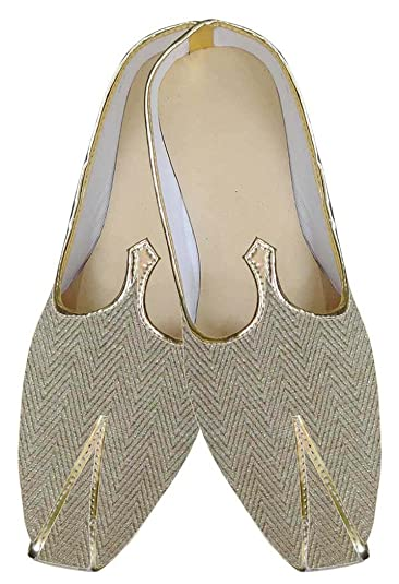 Mens Golden Indian Wedding Shoes Wales Design MJ0143
